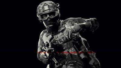 Ready Or Not, SWAT, FBI, Police, Black background, 5K