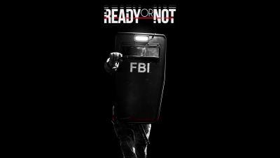 Ready Or Not, FBI, Police, Shield, Black background, 5K