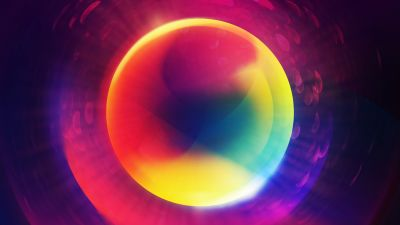Gradient Abstract, Circular, Digital composition, Purple background, Sphere