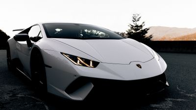 Lamborghini Huracan, Evening, Dark, 5K
