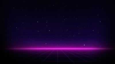 Outrun, Neon, Dark background, Purple