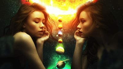 Girls, Planets, Surreal, Mood, Manipulation, Glow, Cosmos