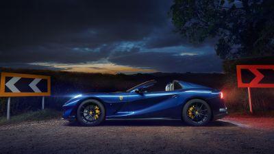 Ferrari 812 GTS, Night, 5K