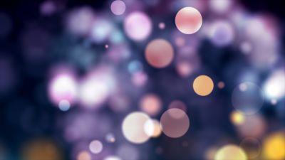 Bokeh, Circles, Blur background, Pattern, Backdrop