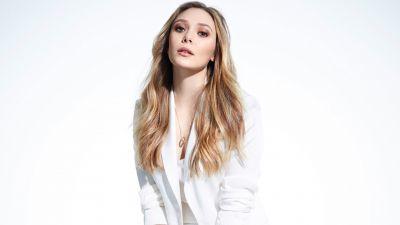 Elizabeth Olsen, White background