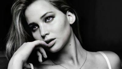 Jennifer Lawrence, Monochrome, 5K