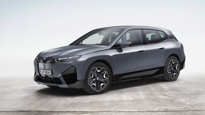BMW iX xDrive50 Sport, Electric SUV, 2021, 5K, 8K, White background
