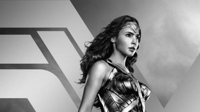 Zack Snyder's Justice League, 2021 Movies, Wonder Woman, Diana Prince, Gal Gadot, DC Comics, DC Superheroes, Monochrome