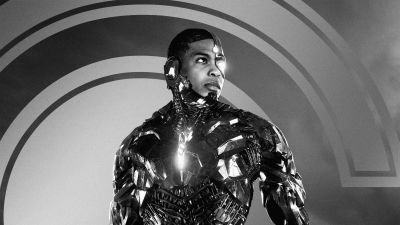 Zack Snyder's Justice League, 2021 Movies, Cyborg, Ray Fisher, DC Comics, DC Superheroes, Monochrome