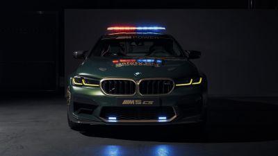 BMW M5 CS, MotoGP Safety Car, 2021, Dark background, 5K, 8K