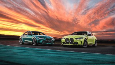 BMW M4, BMW M3, 2021, 5K