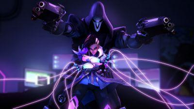 Sombra, Reaper, Overwatch, Neon
