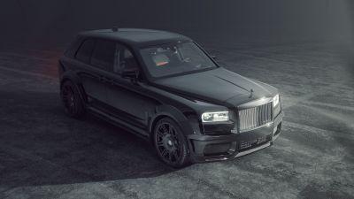 Rolls-Royce Cullinan Black Badge, SPOFEC, Black cars, 2021, 5K, 8K