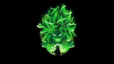Broly, Dragon Ball Z, Black background