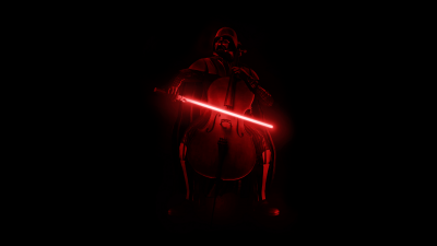 Darth Vader, Violin, Lightsaber, AMOLED, Black background