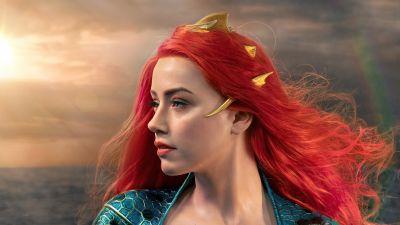 Mera, Amber Heard, Aquaman, DC Comics, 5K