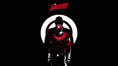 Daredevil, Marvel Comics, AMOLED, Black background, 5K, 8K