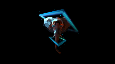 Elephant, Low poly, Artwork, AMOLED, Black background, Neon