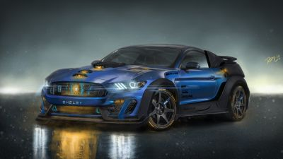 Shelby GT350R, Bodykit, Neon, Concept cars, Custom tuning, Fusion