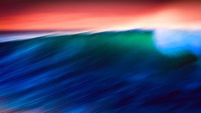Waves, Ocean, Sunlight, 5K