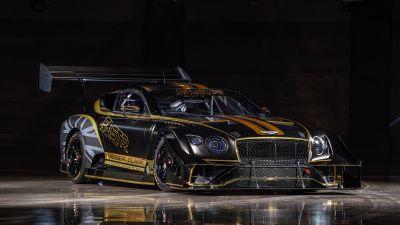 Bentley Continental GT3 Pikes Peak, 2021, Dark background