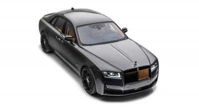 Rolls-Royce Ghost, Mansory, Launch Edition, 2021, White background, Black cars, 5K