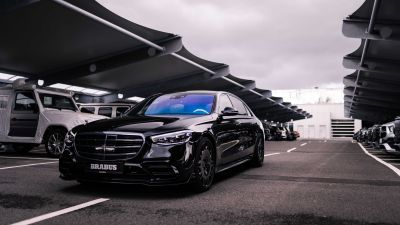 BRABUS 500, Mercedes-Benz S 500 L 4MATIC, 2021, Black cars, 5K