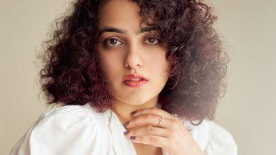 Nithya Menen, Indian actress, Portrait, Beautiful actress, 5K