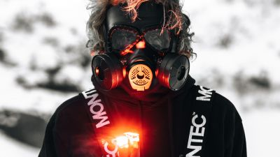 Gas mask, Hoodie, Person, Flare, Adventure, 5K