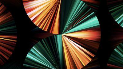 iPad Pro 2021, Apple Event 2021, Green, Dark, Colorful, Stock, Multicolor