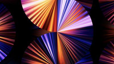 iPad Pro 2021, Apple Event 2021, Purple, Light, Colorful, Stock, Multicolor