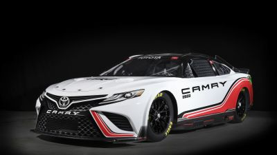 Toyota TRD Camry, NASCAR Race Car, 2021, Dark background, 5K