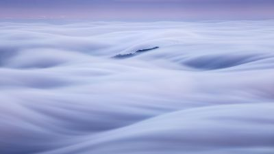 Clouds, Scenic, Above clouds, Morning, 5K
