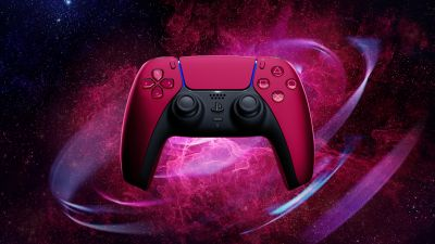 Sony PS5, DualSense Wireless Controller, Cosmic Red