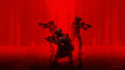 Soldiers, Military, Operation, Red background