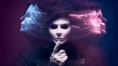 Man in Mask, Long exposure, Blurred, Dark background, Creative, Mystic