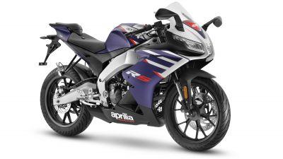 Aprilia RS 125, Sports bikes, 2021, White background, 5K, 8K