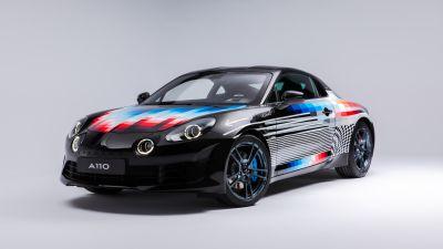 Alpine A110 x Felipe Pantone, Art Car, 2021, 5K, White background
