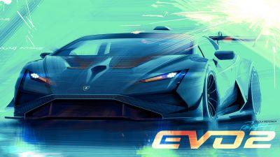Lamborghini Huracán Super Trofeo EVO2, Race cars, 2022