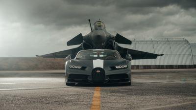 "Bugatti Chiron Sport ""Les Légendes du Ciel"", Dassault Rafale, Hyper Sports Cars, 2021, 5K, 8K"