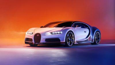 Bugatti Chiron, Sports cars, CGI