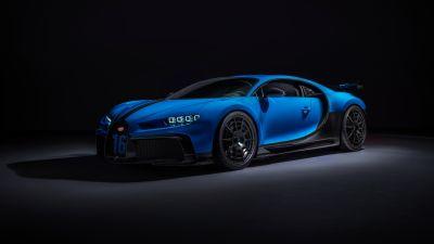 Bugatti Chiron Pur Sport, Sports cars, Hypercars, Black background, 5K