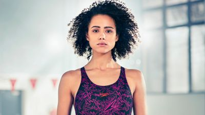 Nathalie Emmanuel, British actress, Hollywood, Swimsuit, 5K