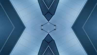 X Illustration, Ceiling, Mirrored, Architecture, Indoor, Symmetrical, Pattern, 5K, 8K