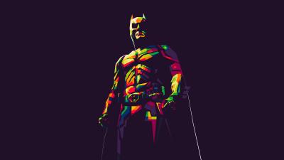 Batman, DC Superheroes, Illustration, Dark background, Minimal art, 5K