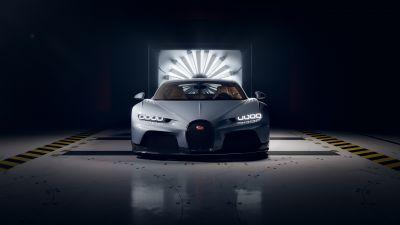 Bugatti Chiron Super Sport, Hyper Sports Cars, Dark background, 2021