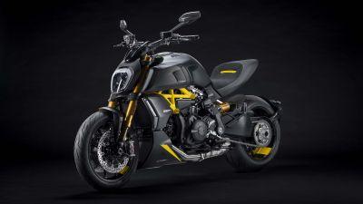 Ducati Diavel 1260 S Black and Steel, Sports bikes, 2021, Dark background