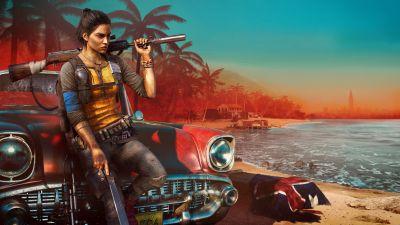 Far Cry 6, Clara Garcia, PC Games, PlayStation 4, Amazon Luna, Xbox One, PlayStation 5, Xbox Series X and Series S, 2021 Games, 5K, 8K