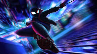 Miles Morales, Illustration, Spider-Man, Marvel Superheroes, Artwork, 5K