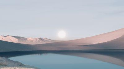 Windows 11, Desert, Landscape, Scenery, Sunrise, Stock, Day light